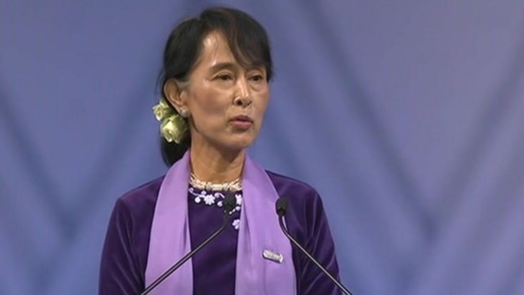 Suu Kyi in Oslo for Nobel speech - BBC News