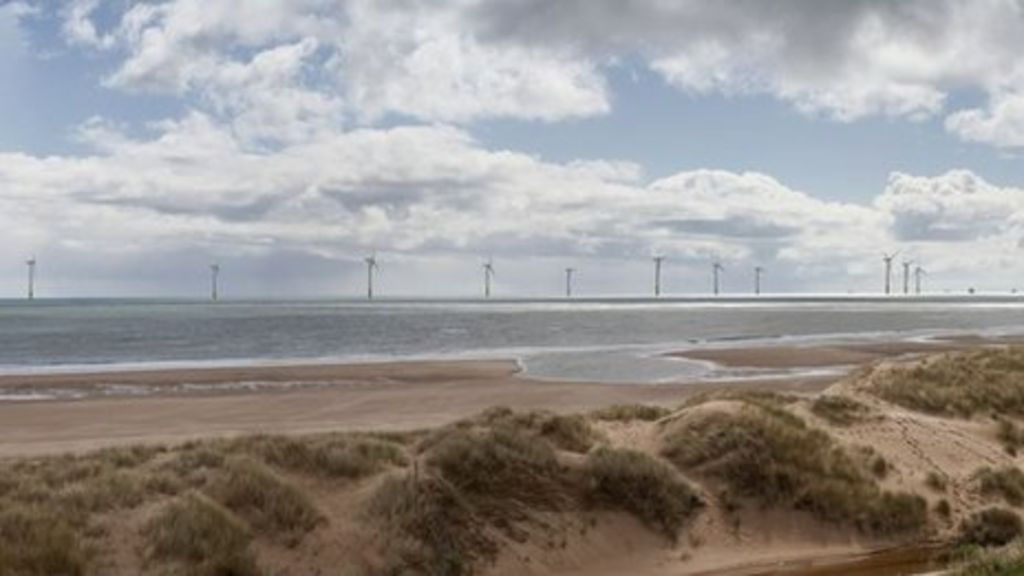 Offshore wind farm plan opposed by Donald Trump is delayed - BBC News