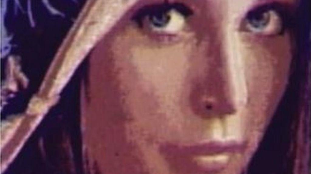 Playboy centrefold photo shrunk to width of human hair - BBC News