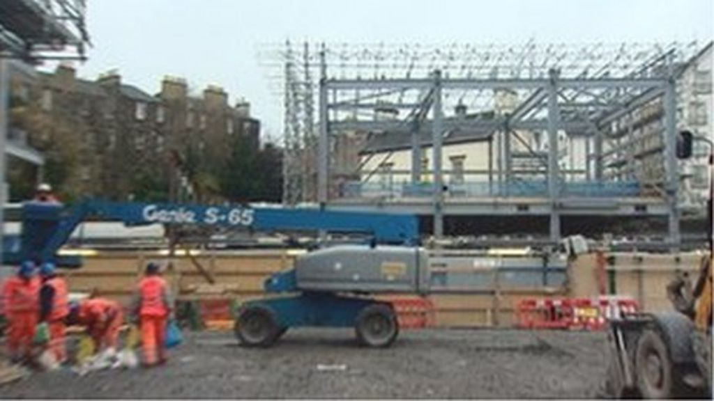 New Haymarket Station being built
