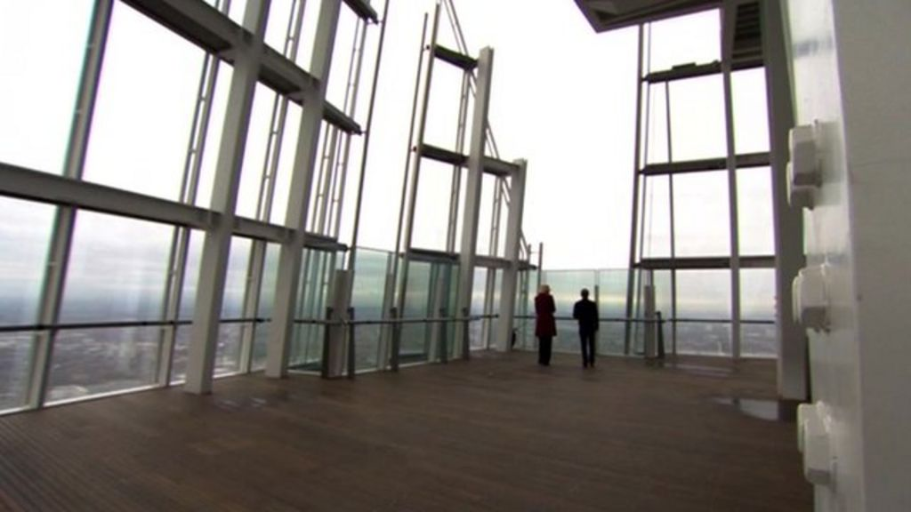 Take A Tour Of The Shard S Viewing Platform Bbc News