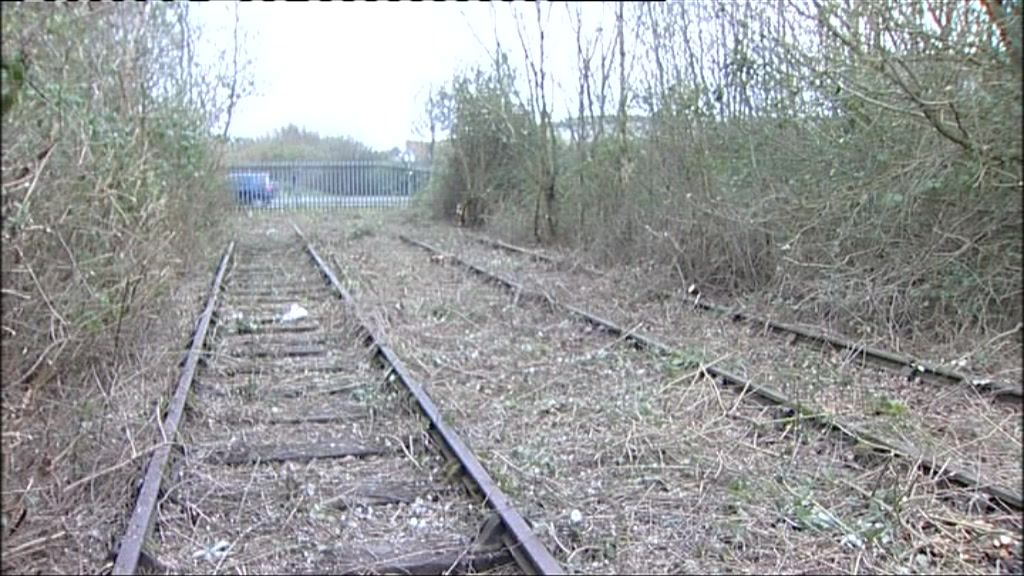 View along the disused Portishead railway line