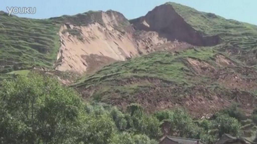 China earthquake triggers landslide in Gansu province ...