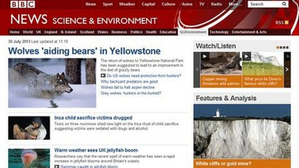 bbc science websites environment