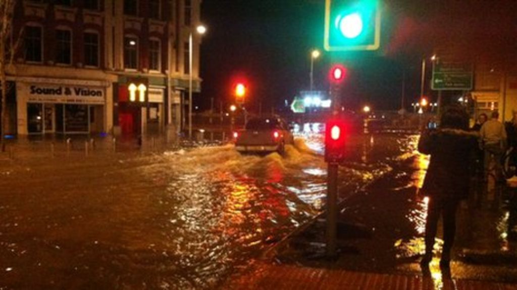 Tidal surge causes flooding in suffolk bbc news