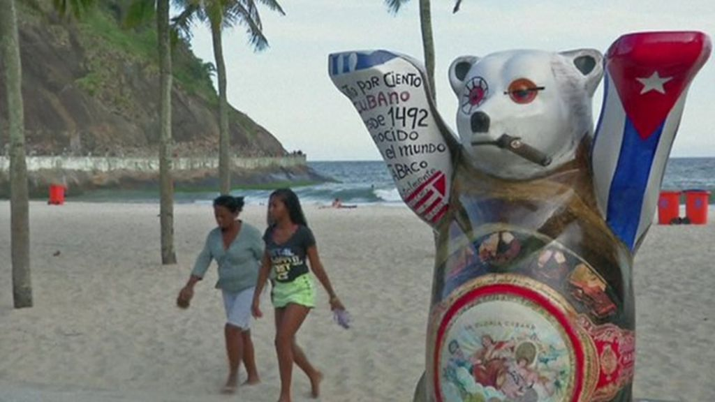 Bears turn up on Copacabana beach and other arts stories - BBC ...