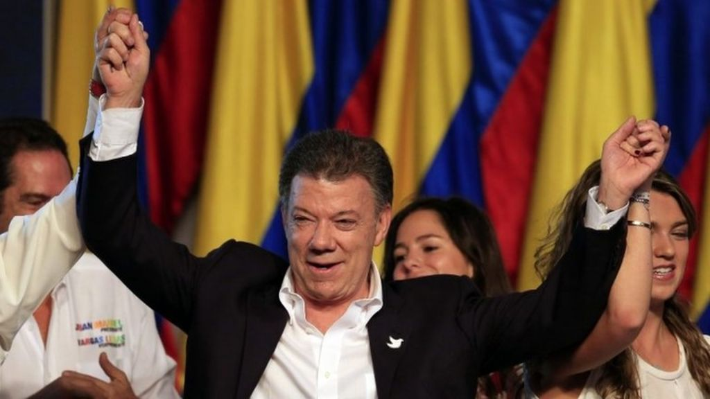 Colombia vote: Santos re-elected as president - BBC News