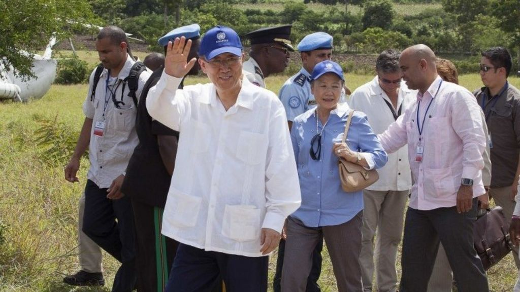 Ban Ki-moon: UN to help Haiti fight cholera epidemic - BBC News