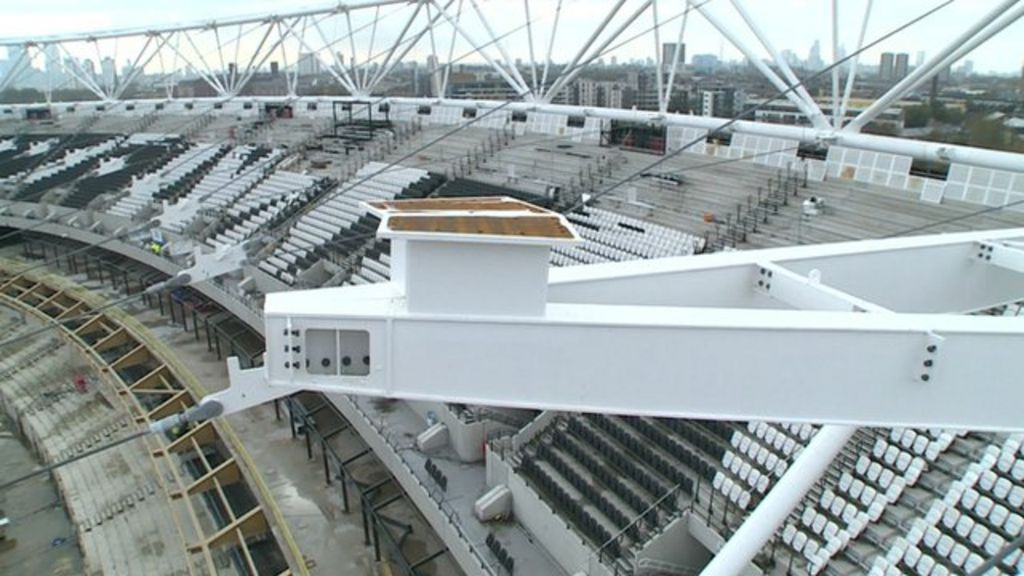 Building The London Olympic Stadium S New Roof Bbc News