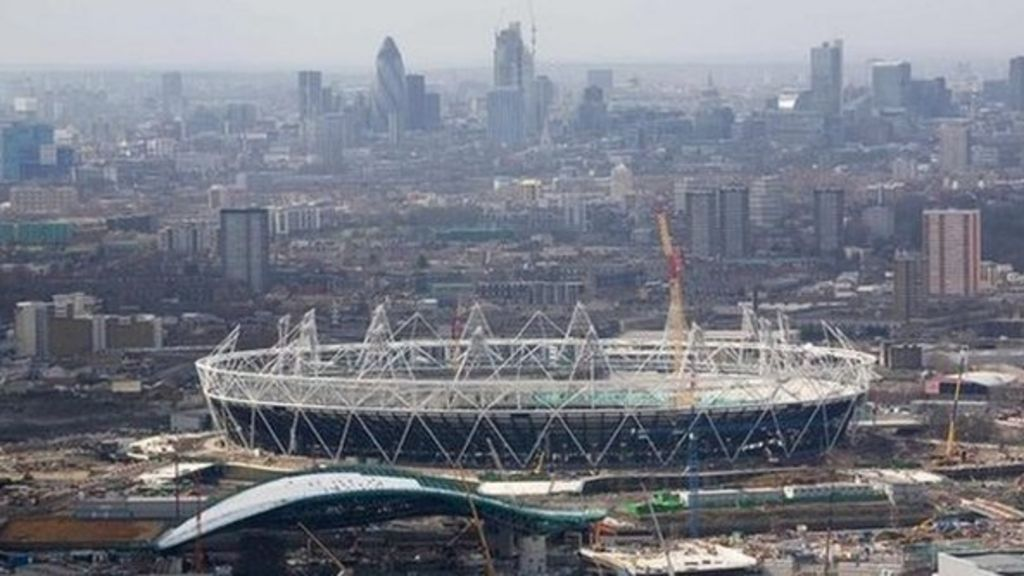 Olympic Stadium Work Starts On New Roof Bbc News