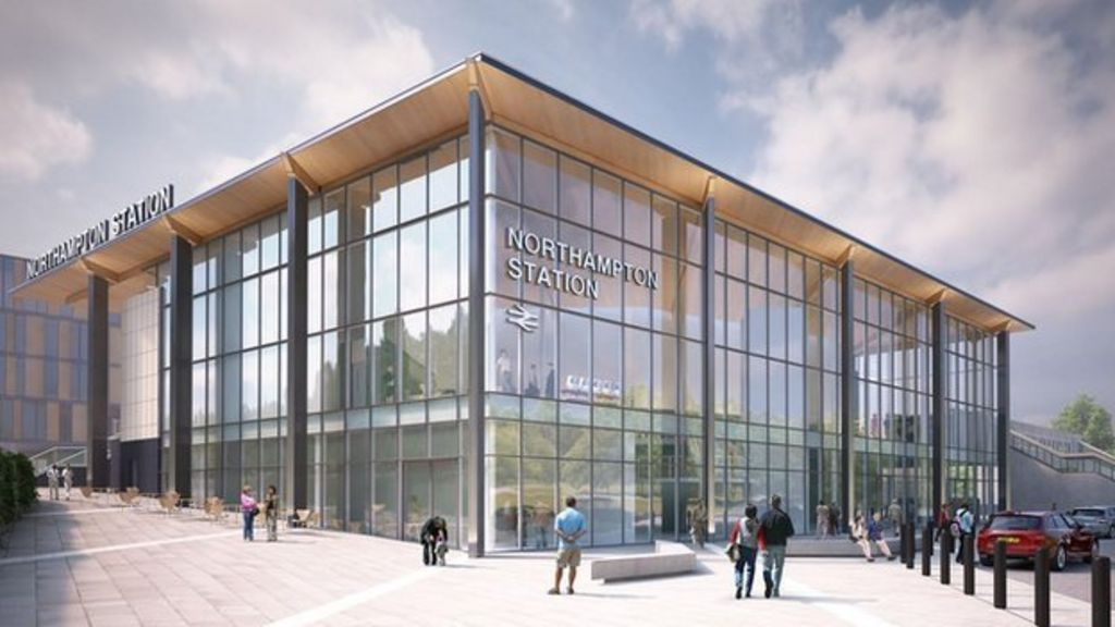 An artist's impression of the Northampton Station development