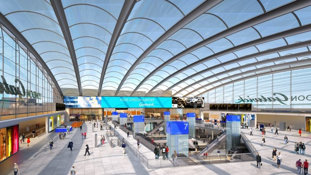 New concourse at Gatwick Airport station
