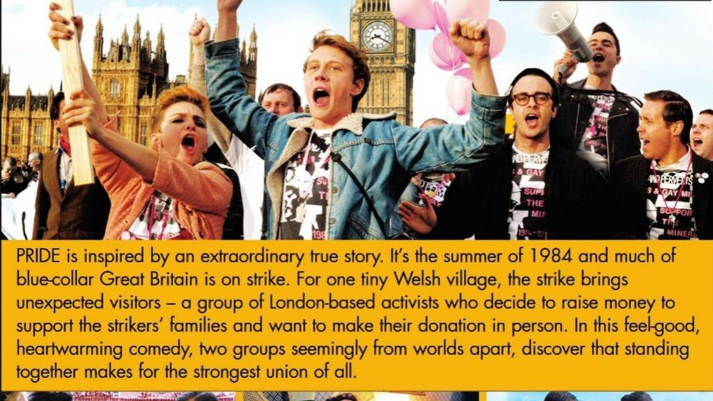 Gay banner removed from Pride DVD cover in US - BBC News