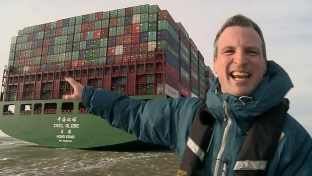 Close Up Look At The World S Largest Container Ship Bbc News