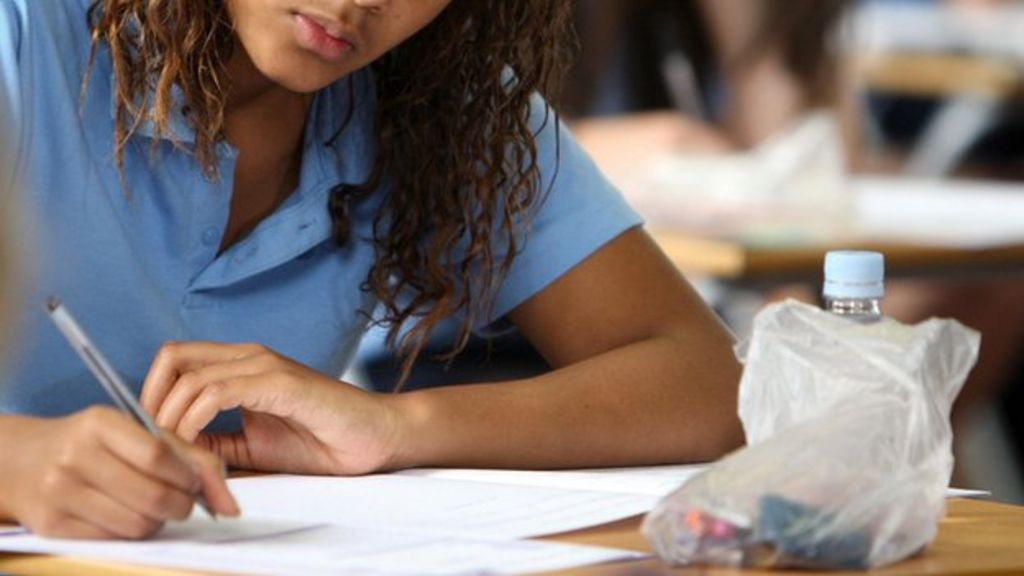 What is the percentage between coursework and exam for GCSE media studies?