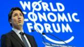 Trudeau speaking at the World Economic Forum