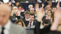 Show of hands during plenary