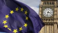 EU flag in front of Big Ben