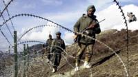 भारत-पाकिस्तान नियंत्रण रेखा के पास भारतीय सेना