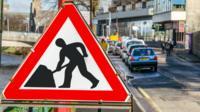 Roadworks in Inverness