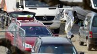 Forensics expert inspect suspect car in Antwerp on 23 March 2017