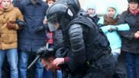 تجمع امروز در مینسک یکی از بززرگترین تظاهراتهای اعتراضی در این کشور در طول سالیان اخیر بود