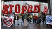 Anti-Ceta protest, Brussels 20 Oct 2016