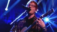 Ed Sheeran singing