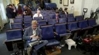 Briefing room at White House