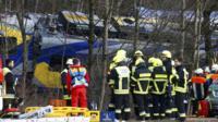 Crashed train near Bad Aibling in south-western Germany. 9 Feb 2016