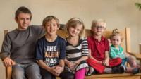 Bradley, 11, Preston, 10, Layla, 8, Landon, 6, and Olive, 2