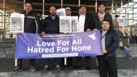 A vigil for the victims of the London terror attack is held in Cardiff