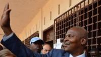 Central African Republic second round presidential winner Faustin Touadera in Bangui (14 February 2016)