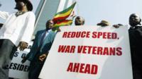 A march by Zimbabwe war veterans - archive shot