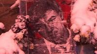 An image of murdered Russian opposition politician Boris Nemtsov