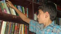 Amjad in the library