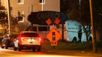 Police operate at a crime scene outside the Cameo Nightclub after a reported fatal shooting, Sunday, March 26, 2017, in Cincinnati.