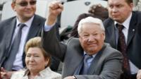 Boris Yeltsin and his wife Naina