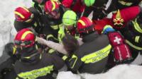Survivor pulled alive from avalanche