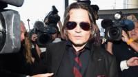 Johnny Depp arrives at court