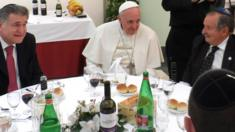 A four-course luncheon Francis hosted for a dozen Argentine rabbis - January 2014