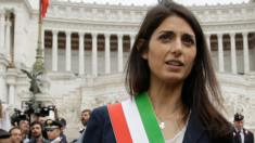 Rome Mayor Virginia Raggi in Rome on 23 June 2016