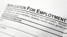 A US job application form.