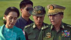 Aung San Suu Kyi with Commander-in-Chief of the Myanmar Armed Forces General Min Aung Hlaing