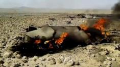 Video of burning plane wreckage