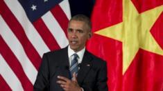 US President Barack Obama speaks in Hanoi (23 May 2016)