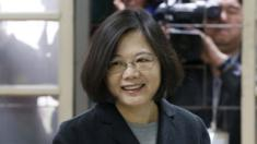 Tsai Ing-wen, casts her ballot at a polling station in Taipei