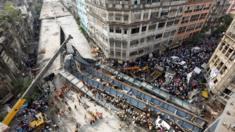 Scene of flyover collapse