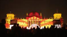 Reichstag lit up for Reunification anniversary