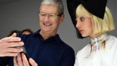 Tim Cook and Maddie Ziegler